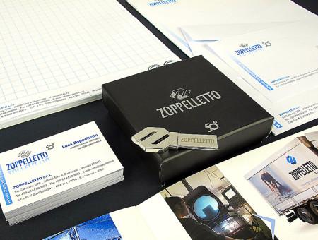 Zoppelletto restyling logo brochure e allestimenti