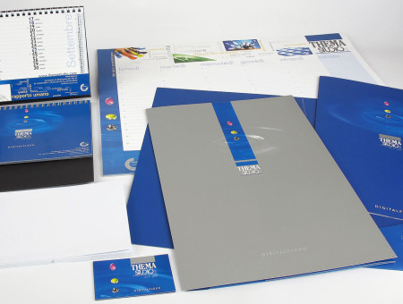 Thema Studio brochure cartellina e sito